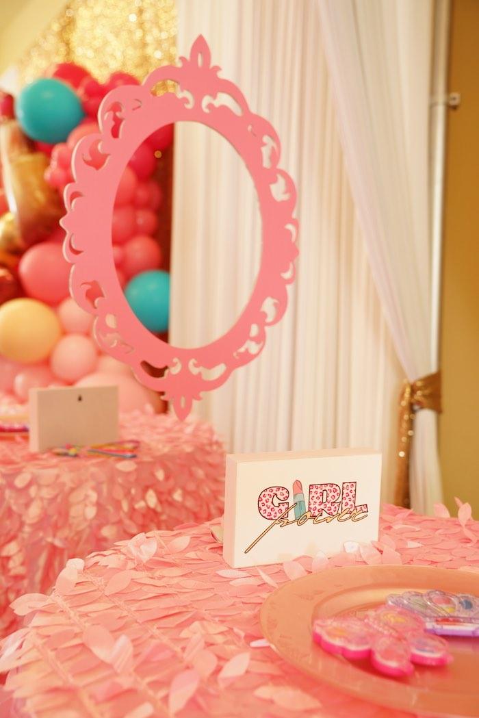 Spa Table from a Diva Spa Party on Kara's Party Ideas | KarasPartyIdeas.com (16)