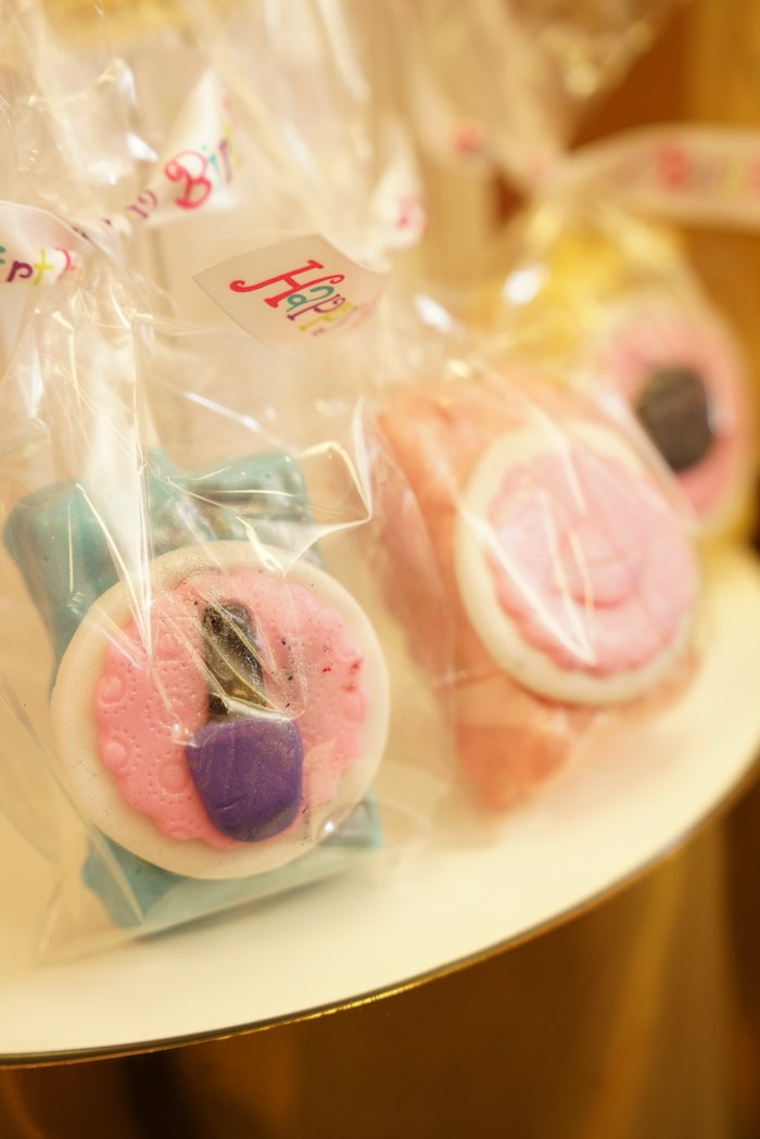 Spa Cookies + Favor Bags from a Diva Spa Party on Kara's Party Ideas | KarasPartyIdeas.com (15)