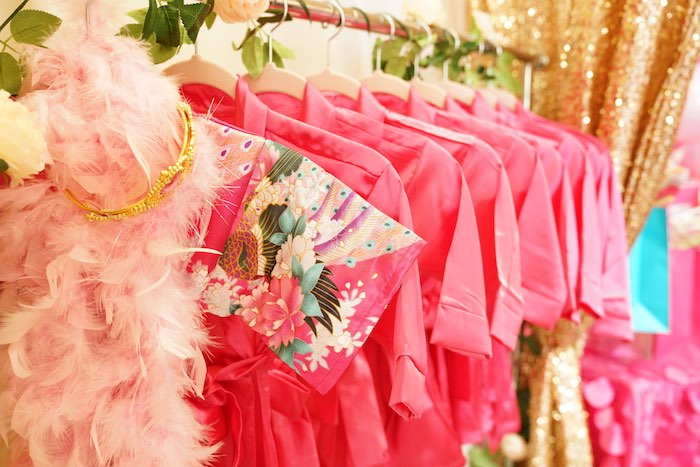 Spa Robes from a Diva Spa Party on Kara's Party Ideas | KarasPartyIdeas.com (14)