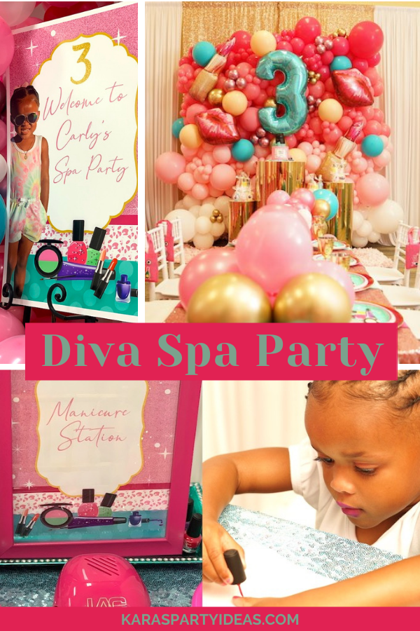 Diva Spa Party via Kara's Party Ideas - KarasPartyIdeas.com