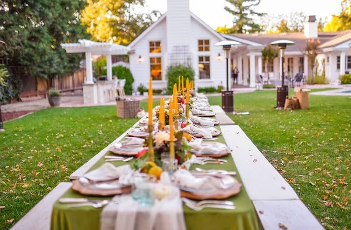 Fall Farmhouse Guest Table from a Fall Farmhouse Thanksgiving Celebration on Kara's Party Ideas | KarasPartyIdeas.com (22)