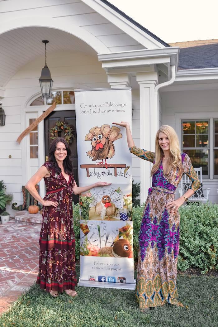 Turkey Table Sign from a Fall Farmhouse Thanksgiving Celebration on Kara's Party Ideas | KarasPartyIdeas.com (38)