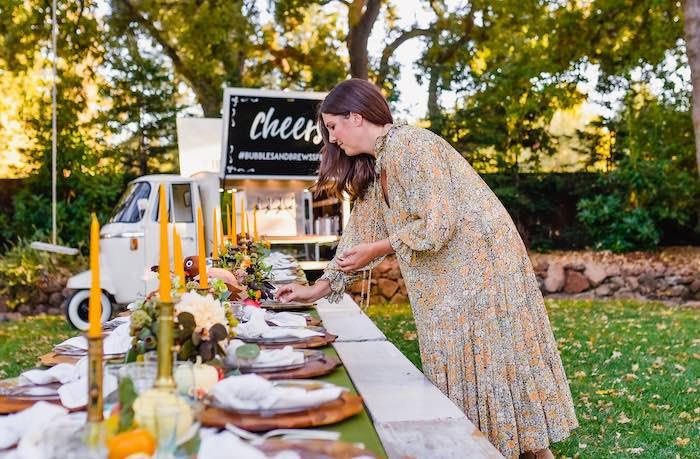 Fall Farmhouse Guest Table from a Fall Farmhouse Thanksgiving Celebration on Kara's Party Ideas | KarasPartyIdeas.com (37)