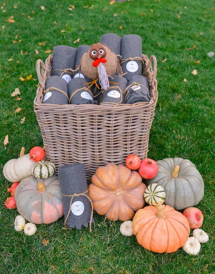 Fall Favor Basket from a Fall Farmhouse Thanksgiving Celebration on Kara's Party Ideas | KarasPartyIdeas.com (4)