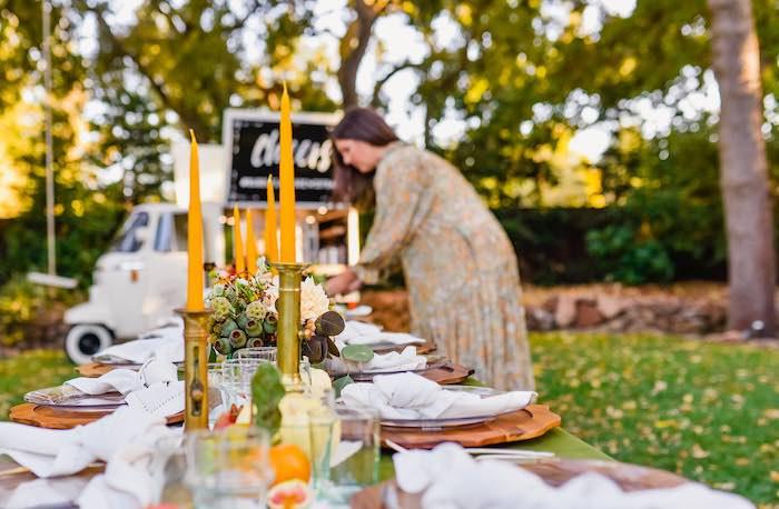 Fall Farmhouse Guest Table from a Fall Farmhouse Thanksgiving Celebration on Kara's Party Ideas | KarasPartyIdeas.com (36)
