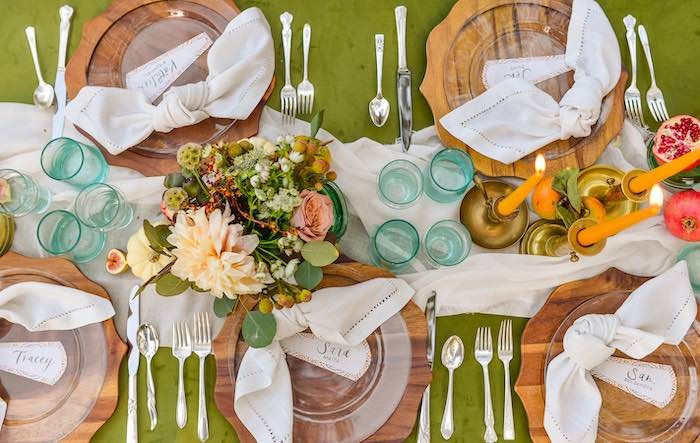 Fall Themed Guest Table from a Fall Farmhouse Thanksgiving Celebration on Kara's Party Ideas | KarasPartyIdeas.com (32)