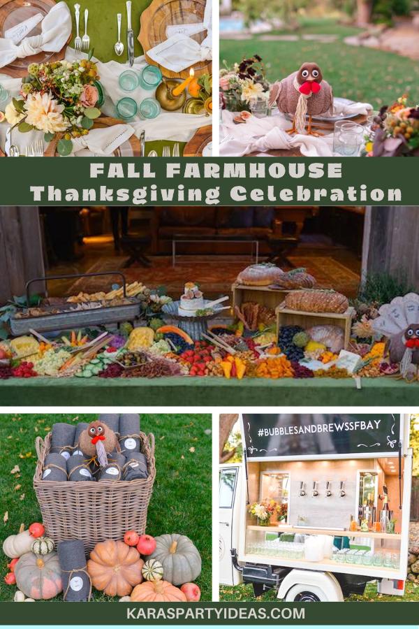 Fall Farmhouse Thanksgiving Celebration via Kara's Party Ideas - KarasPartyIdeas.com