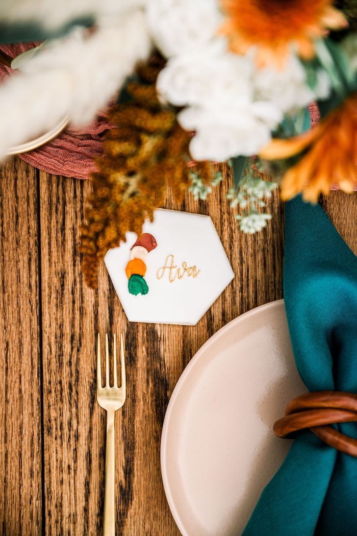 Cookie Place Setting from a Fall Friendsgiving on Kara's Party Ideas | KarasPartyIdeas.com (14)