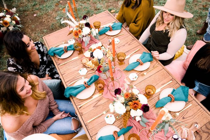 Guest Table from a Fall Friendsgiving on Kara's Party Ideas | KarasPartyIdeas.com (26)