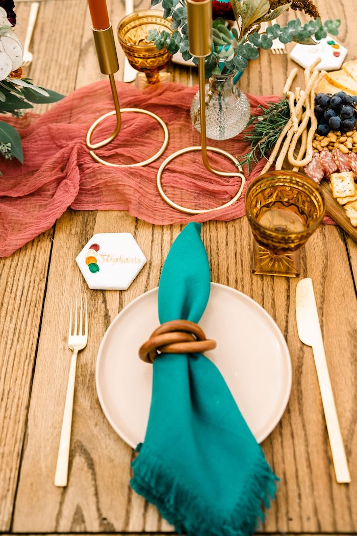 Table Setting from a Fall Friendsgiving on Kara's Party Ideas | KarasPartyIdeas.com (21)
