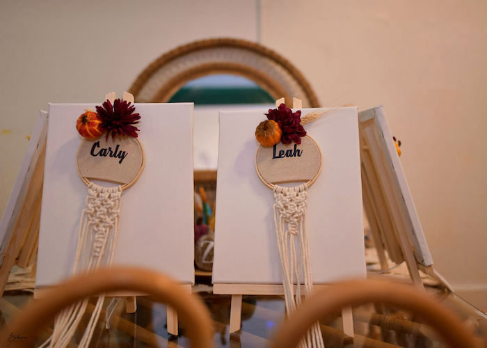 Personalized Macrame Hoop Place Settings from a Fall Inspired Pocahontas Birthday Party on Kara's Party Ideas | KarasPartyIdeas.com (9)