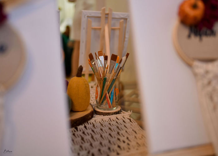 Paintbrushes from a Fall Inspired Pocahontas Birthday Party on Kara's Party Ideas | KarasPartyIdeas.com (8)