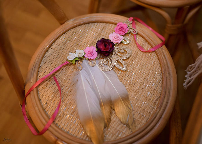 Feather Crown from a Fall Inspired Pocahontas Birthday Party on Kara's Party Ideas | KarasPartyIdeas.com (6)