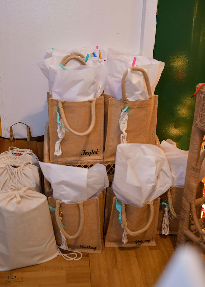 Woven Gift Bags from a Fall Inspired Pocahontas Birthday Party on Kara's Party Ideas | KarasPartyIdeas.com (4)