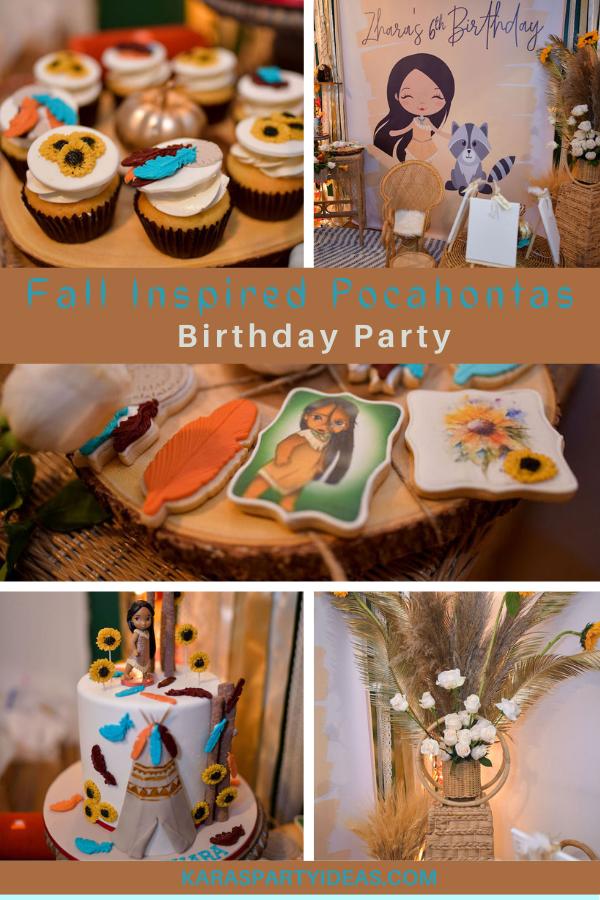 Fall Inspired Pocahontas Birthday Party via Kara's Party Ideas - KarasPartyIdeas.com