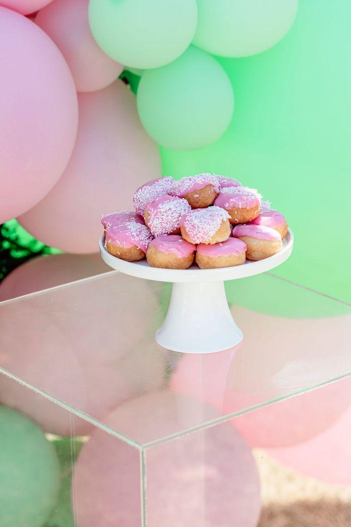 Cake Bites from a Girly Dino Picnic Party on Kara's Party Ideas | KarasPartyIdeas.com (16)
