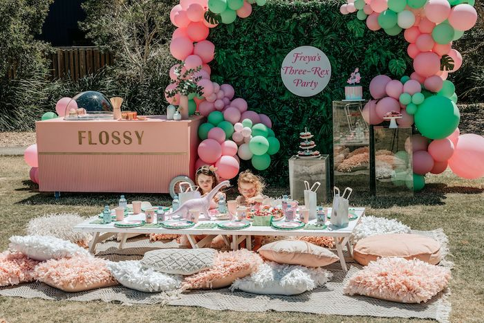 Girly Dino Picnic Party on Kara's Party Ideas | KarasPartyIdeas.com (8)