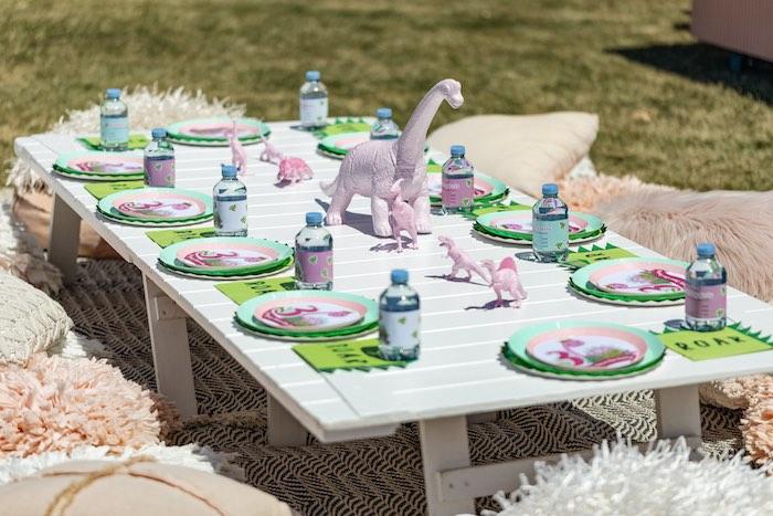 Girly Dino Picnic Party on Kara's Party Ideas | KarasPartyIdeas.com (28)