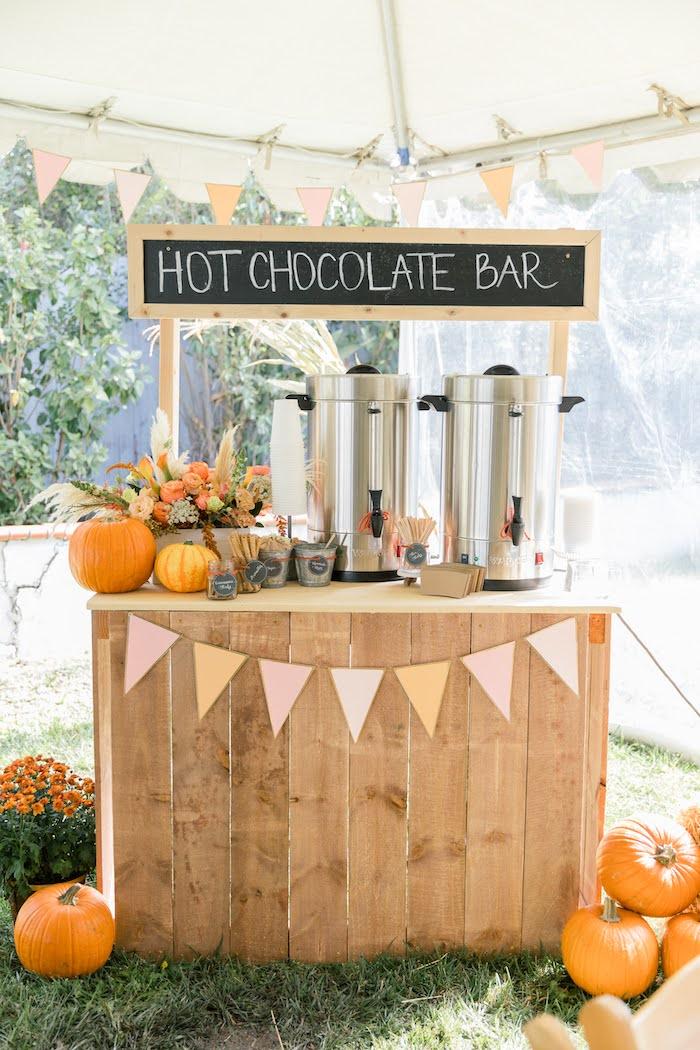 Hot Chocolate Bar from a Little Pumpkin Birthday Party on Kara's Party Ideas | KarasPartyIdeas.com (16)