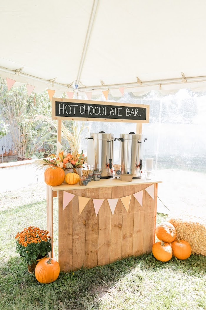 Hot Chocolate Bar from a Little Pumpkin Birthday Party on Kara's Party Ideas | KarasPartyIdeas.com (15)