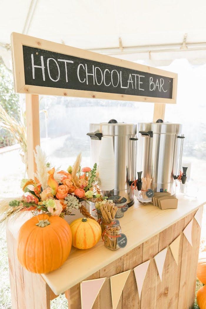 Hot Chocolate Bar from a Little Pumpkin Birthday Party on Kara's Party Ideas | KarasPartyIdeas.com (14)