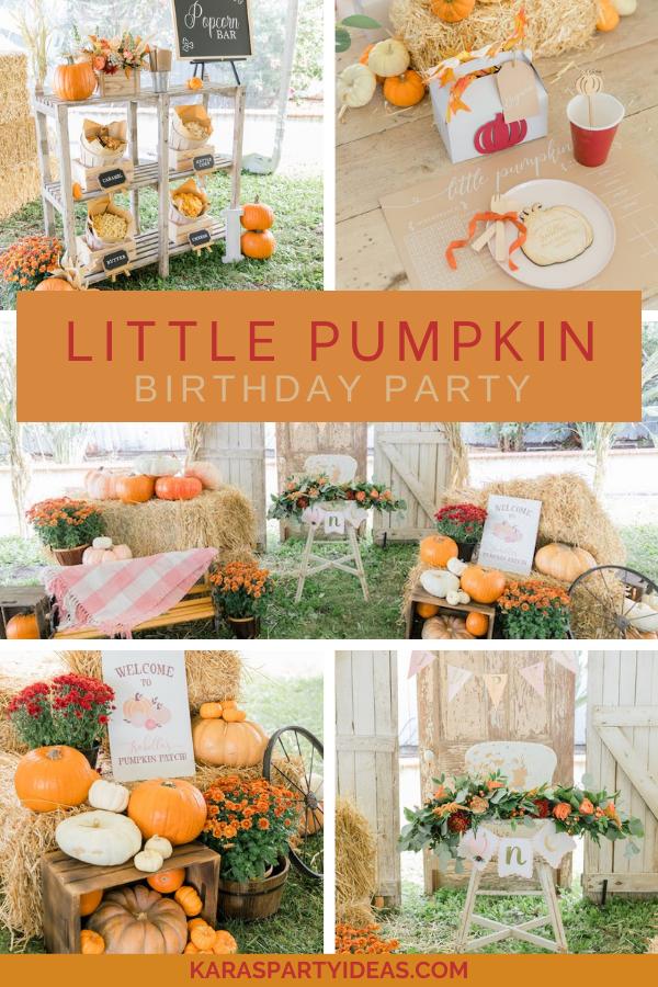 Little Pumpkin Birthday Party via Kara's Party Ideas - KarasPartyIdeas.com