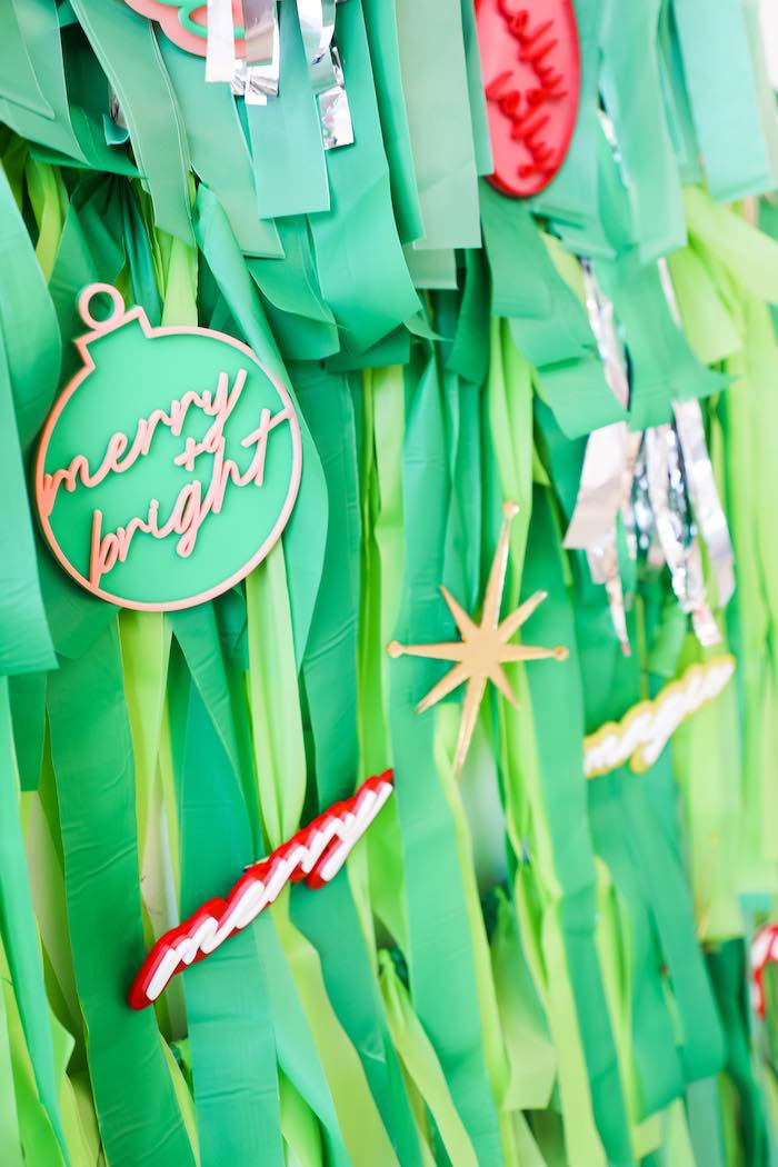 Tassel Christmas Tree from a Merry + Bright Christmas Party on Kara's Party Ideas | KarasPartyIdeas.com (15)