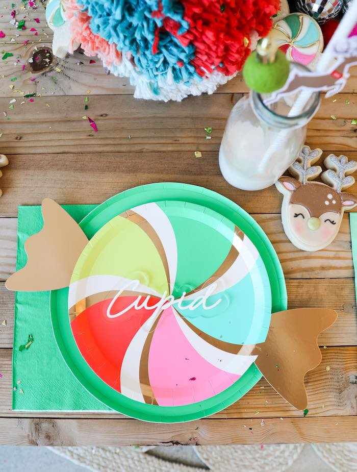 Peppermint Plate Table Setting from a Merry + Bright Christmas Party on Kara's Party Ideas | KarasPartyIdeas.com (13)