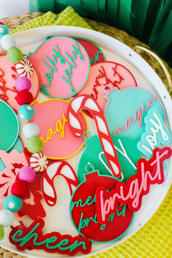 Christmas Cookies from a Merry + Bright Christmas Party on Kara's Party Ideas | KarasPartyIdeas.com (26)