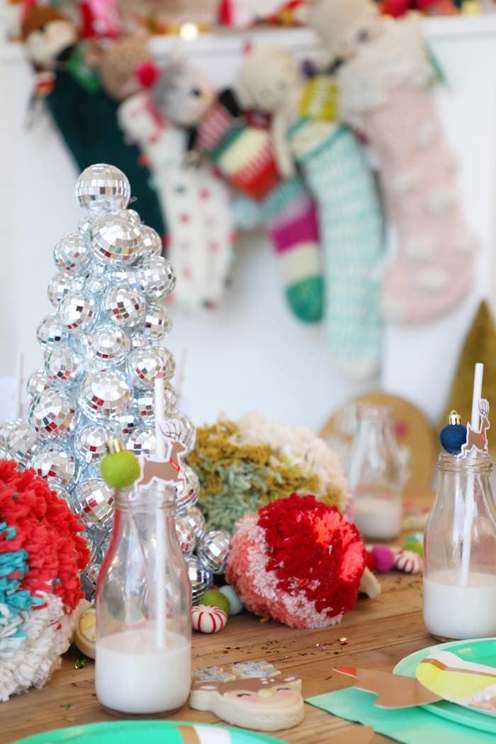 Christmas Kid Table from a Merry + Bright Christmas Party on Kara's Party Ideas | KarasPartyIdeas.com (7)