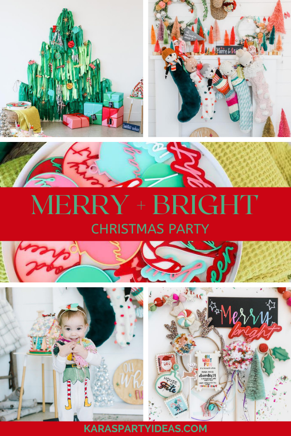 Merry + Bright Christmas Party via Kara's Party Ideas - KarasPartyIdeas.com