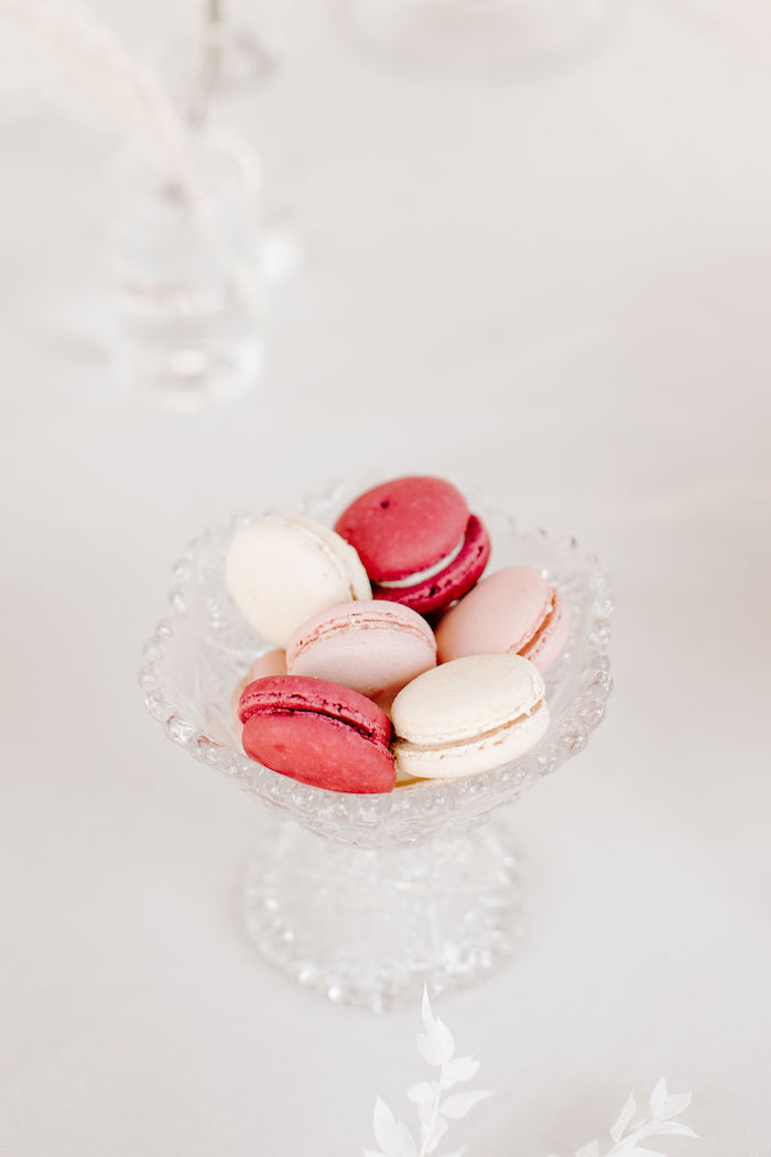 Pink + White Macarons from a Muted Pink Boho Baby Shower on Kara's Party Ideas | KarasPartyIdeas.com (19)
