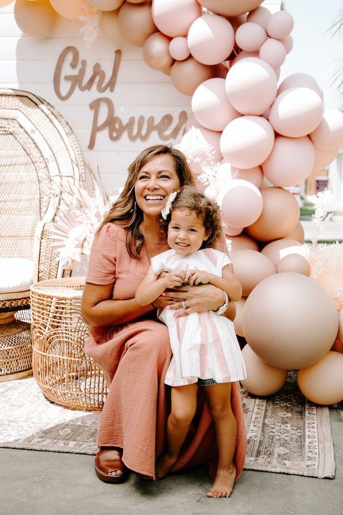 Muted Pink Boho Baby Shower on Kara's Party Ideas | KarasPartyIdeas.com (4)
