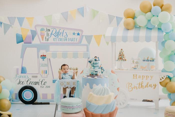 Pastel Ice Cream Birthday Party on Kara's Party Ideas | KarasPartyIdeas.com (4)