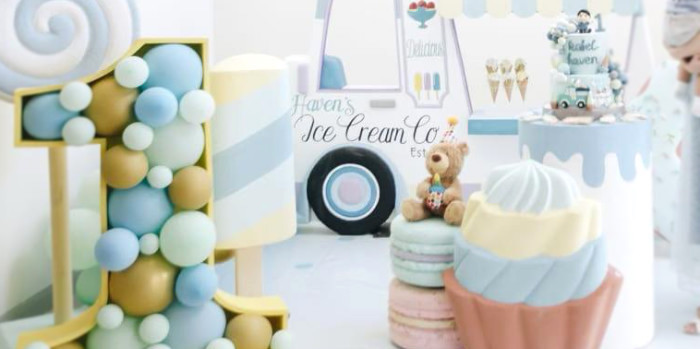 Pastel Ice Cream Birthday Party on Kara's Party Ideas | KarasPartyIdeas.com (1)