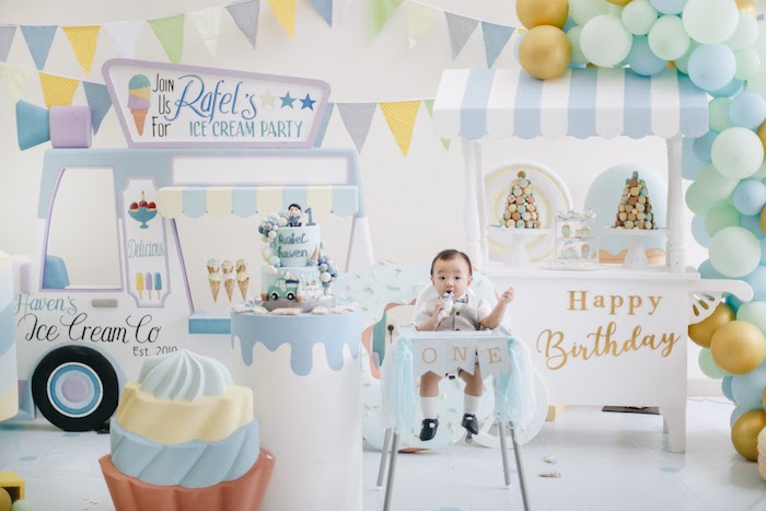 Pastel Ice Cream Birthday Party on Kara's Party Ideas | KarasPartyIdeas.com (11)