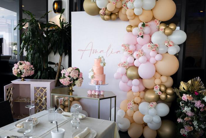 Peach & Gold Baptism Party on Kara's Party Ideas | KarasPartyIdeas.com (9)