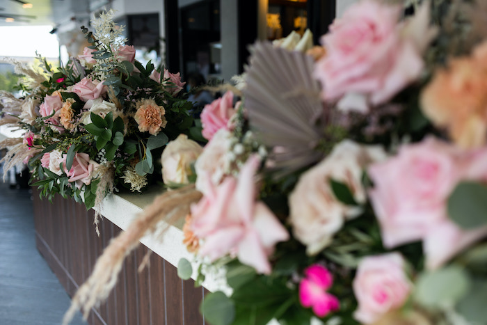 Florals + Blooms from a Peach & Gold Baptism Party on Kara's Party Ideas | KarasPartyIdeas.com (4)
