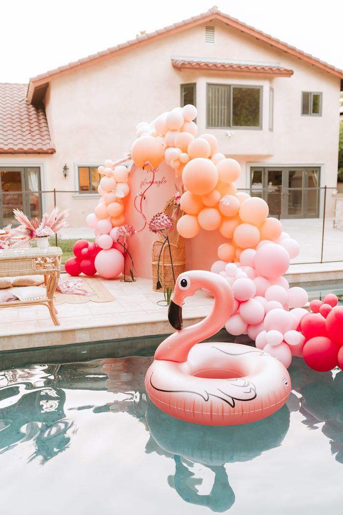 Flamingo Pool from a Pink Flamingle Party on Kara's Party Ideas | KarasPartyIdeas.com (34)