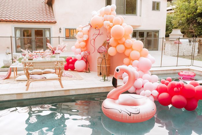 Flamingo Poolside from a Pink Flamingle Party on Kara's Party Ideas | KarasPartyIdeas.com (33)