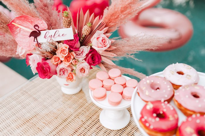 Pink Dessert Table from a Dessert Table from a Pink Flamingle Party on Kara's Party Ideas | KarasPartyIdeas.com (20)
