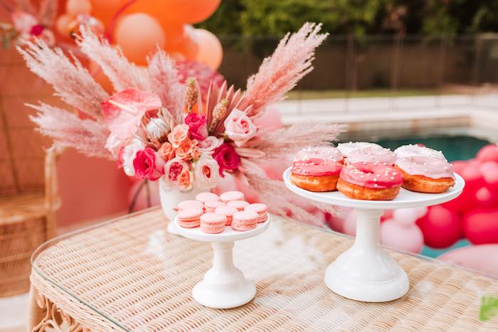 Dessert Table from a Pink Flamingle Party on Kara's Party Ideas | KarasPartyIdeas.com (13)