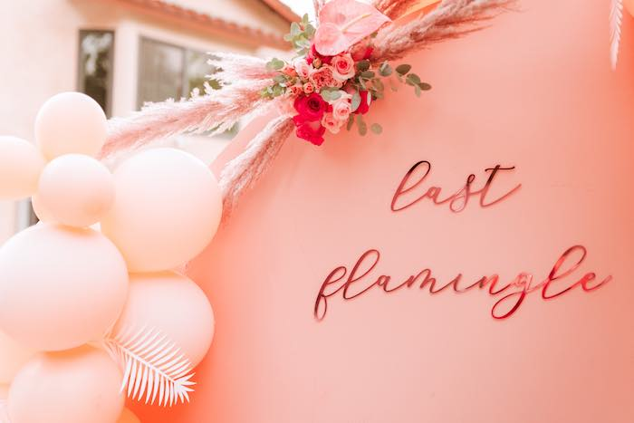 Last Flamingle Backdrop from a Pink Flamingle Party on Kara's Party Ideas | KarasPartyIdeas.com (11)