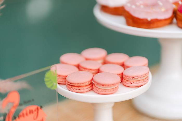 Pink Macarons from a Pink Flamingle Party on Kara's Party Ideas | KarasPartyIdeas.com (10)