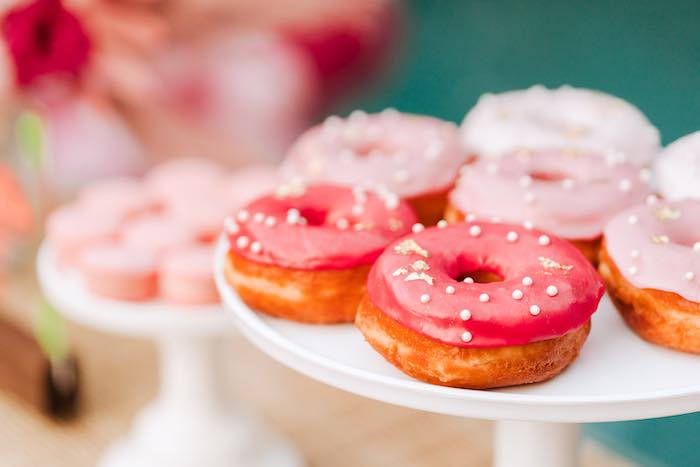 Donuts from a Pink Flamingle Party on Kara's Party Ideas | KarasPartyIdeas.com (9)