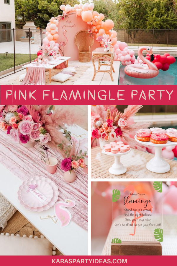 Pink Flamingle Party via Kara's Party Ideas - KarasPartyIdeas.com