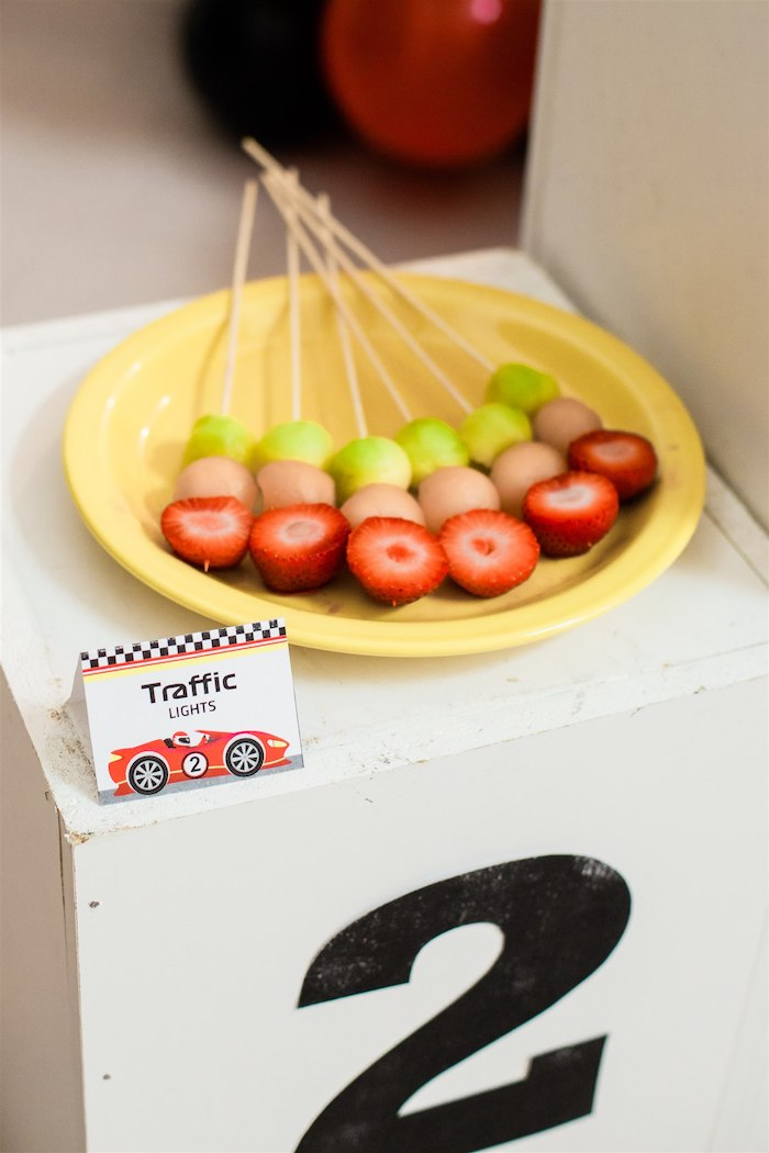 Traffic Light Fruit Skewers from a Race Car Birthday Party on Kara's Party Ideas | KarasPartyIdeas.com (16)