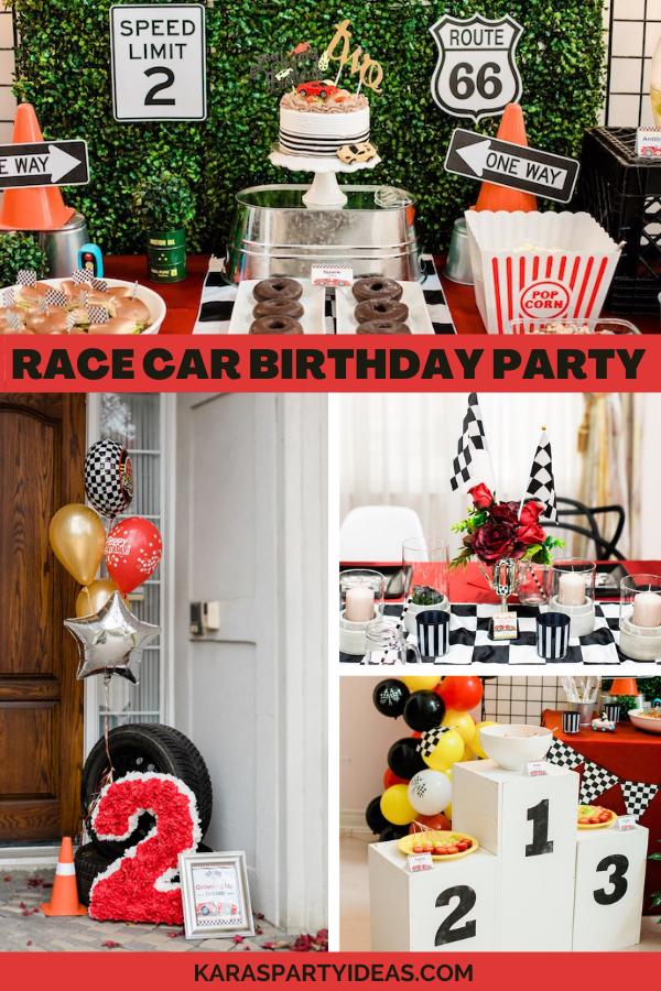 Race Car Birthday Party via Kara's Party Ideas - KarasPartyIdeas.com