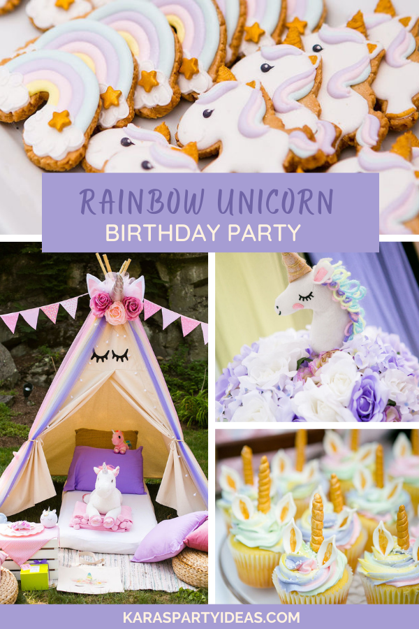Rainbow Unicorn Birthday Party via Kara's Party Ideas - KarasPartyIdeas.com