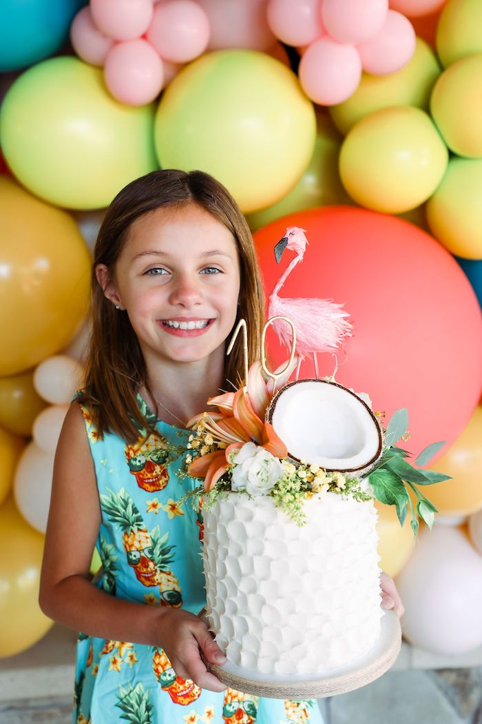 Tropical Pineapple Birthday Party on Kara's Party Ideas | KarasPartyIdeas.com (19)